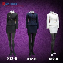 POPTOYS 1/6 X12Series Clothes Accessories Women Wear Dress Suits for Female Seamless Body Middle Bust Toy P20