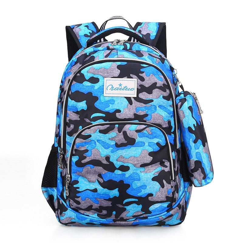 2019 Warterproof Children School Bags Camouflage Schoolbags School Backpacks Boys&Girls Primary School Backpack Kids Backpacks