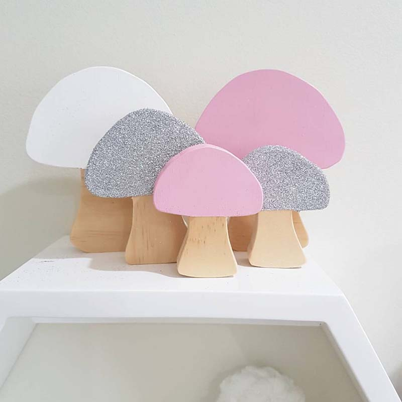 3pcs/lot Pine Wood Mushroom Figurine Wooden Block Toys Gifts Baby Photography Props Children Room Decoration INS Table Ornaments3pcs/lot Pine Wood Mushroom Figurine Wooden Block Toys Gifts Baby Photography Props Children Room Decoration INS Table Ornaments