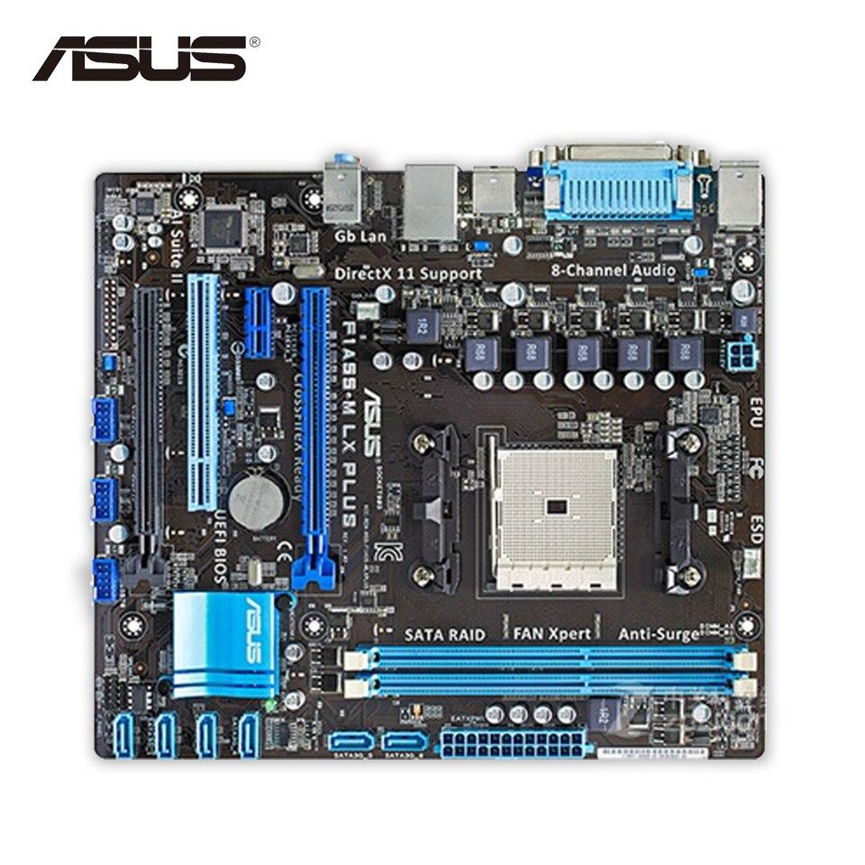 все цены на  Original Used Asus F1A55-M LX PLUS Desktop Motherboard A55 Socket FM1 DDR3 32G SATA2 USB2.0 uATX 100% Fully Test  онлайн