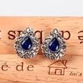 Retro 925 sterling silver handmade inlaid sapphire pink corundum earrings vintage elegant females fashion jewelry for women