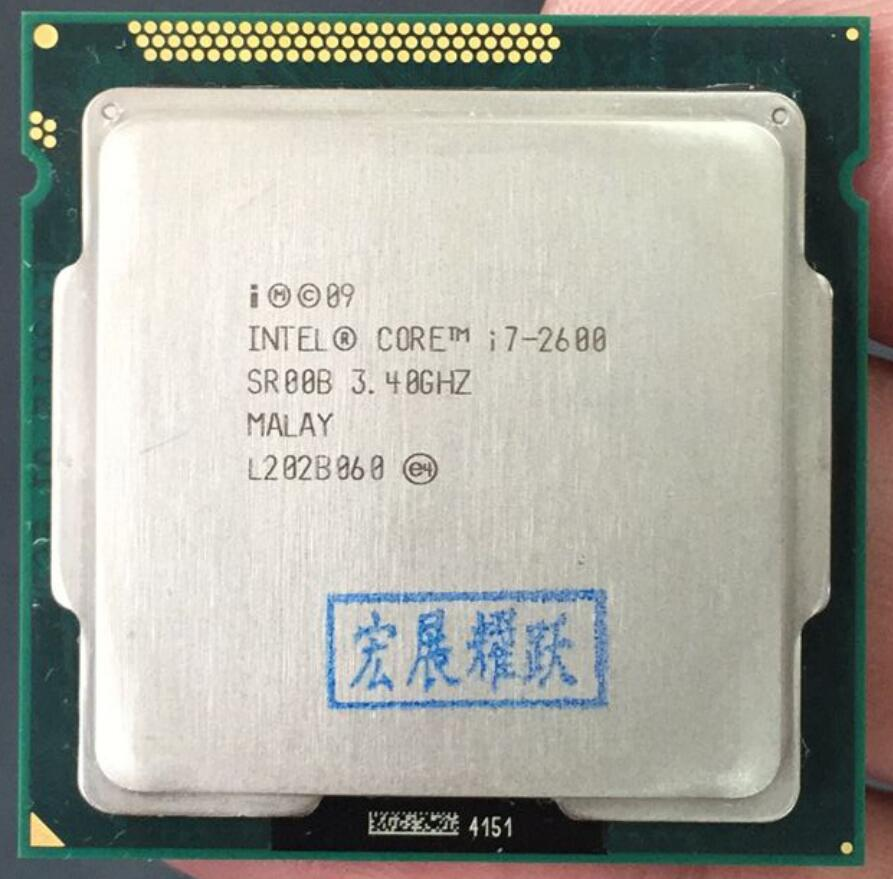Intel Core i7-2600 i7 2600 Processeur (8 M Cache, 3.40 GHz) six Core CPU LGA 1155 100% fonctionne correctement ordinateur pc De Bureau