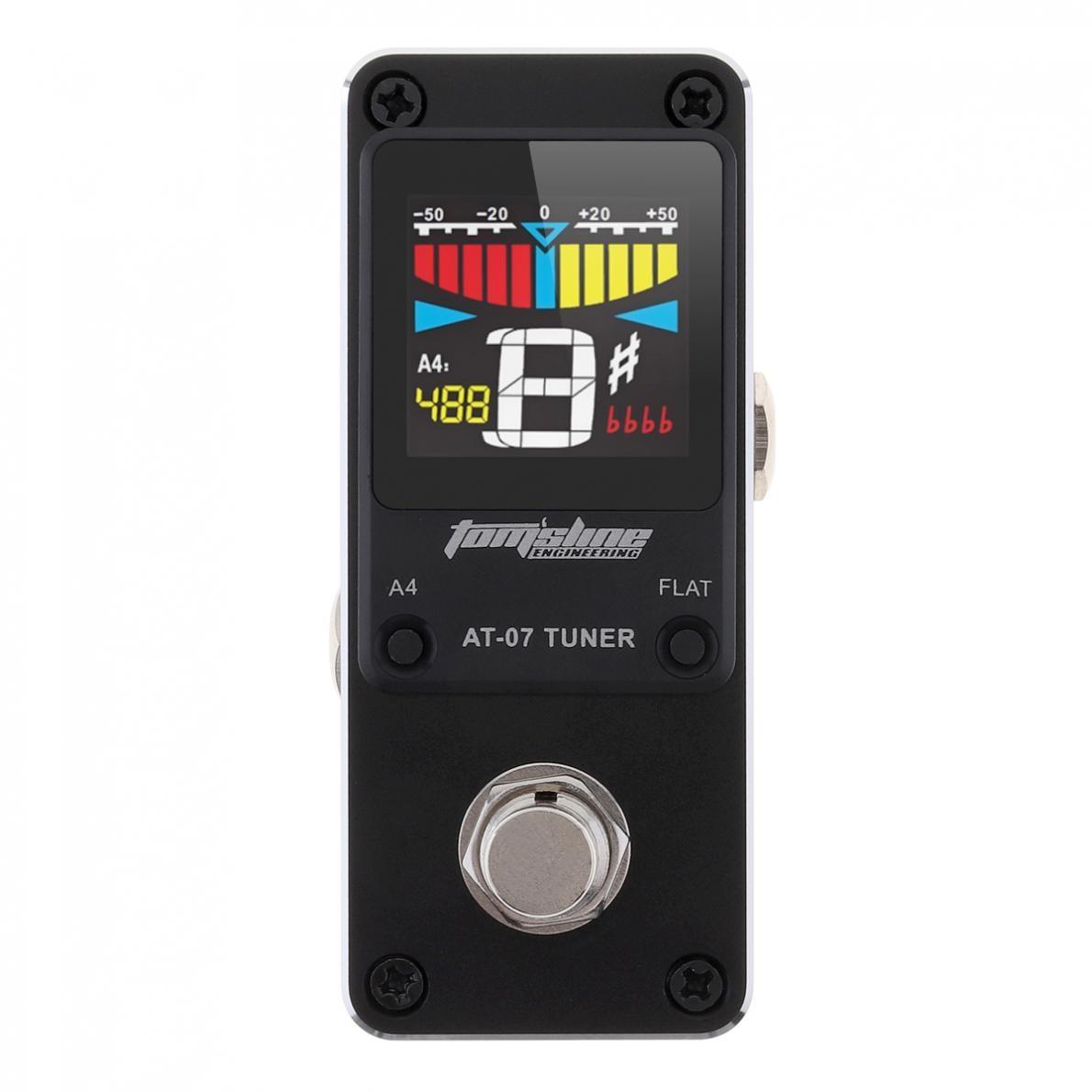 HD Display Mini Guitar Tuner Effect Pedal High Sensitivity Guitar Stompbox Tuner