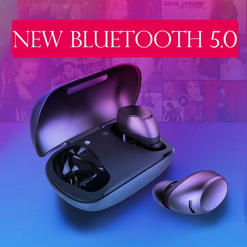 fb7903a7b05 Cheap F2 auriculares Bluetooth inalámbricos Binaural 5,0 deportivos en la  oreja Mini auriculares invisibles