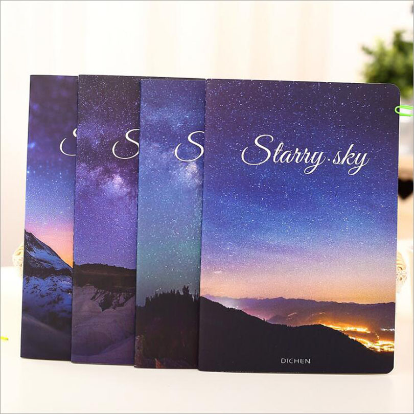 Japan Creative beautiful Starry sky Journal Notebook Diary Planner Notepad for Kids Gift Korean Stationery GT285
