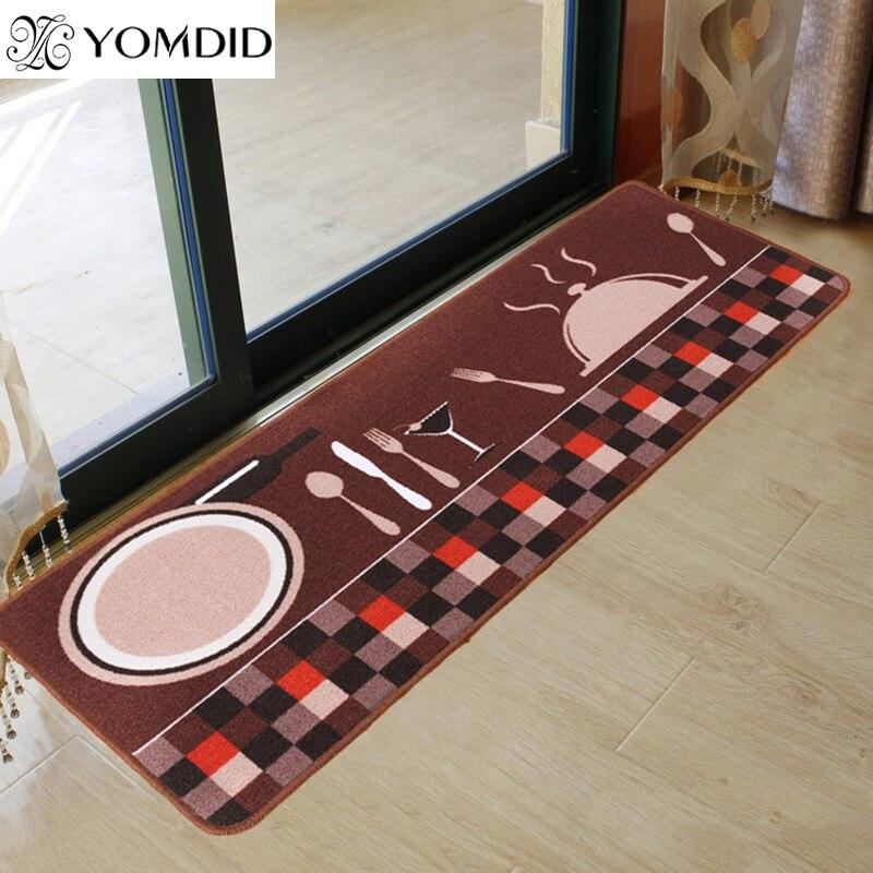 Faca & forquilha cozinha tapete antiderrapante casa foyer tapete longo porta almofada moda tapetes para o quarto
