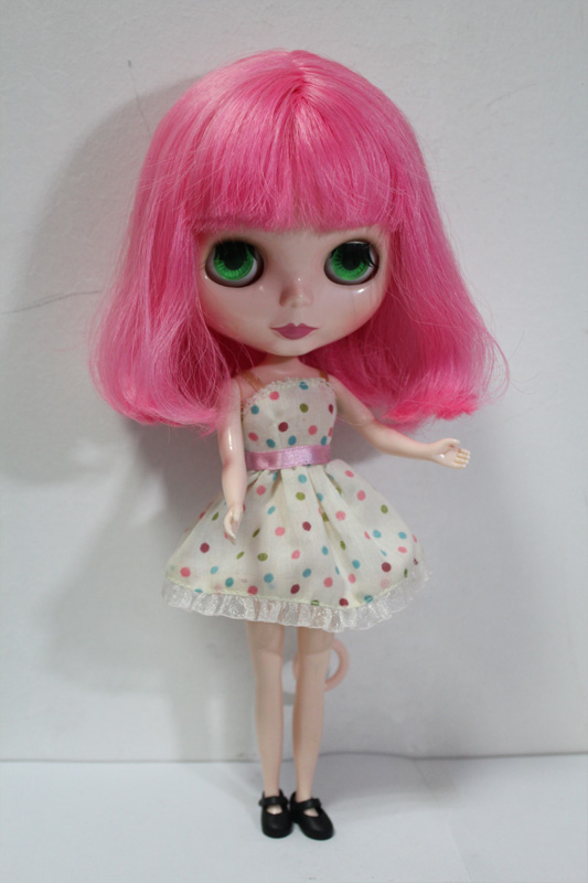Free Shipping big discount RBL-150DIY Nude Blyth doll birthday gift for girl 4colour big eyes dolls with beautiful Hair cute toy free shipping bjd joint rbl 415j diy nude blyth doll birthday gift for girl 4 colour big eyes dolls with beautiful hair cute toy