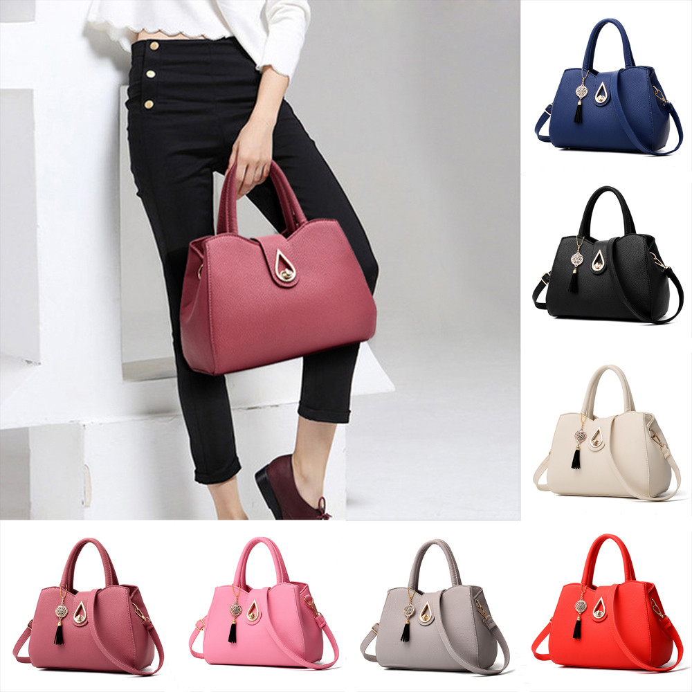 Women tassel pendant handbag