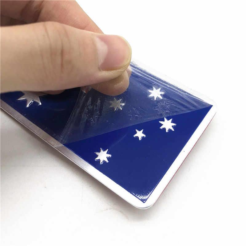 الألومنيوم سبائك أستراليا العلم الوطني شعار سيارة الجسم 3D ملصقات سيارات دراجات نارية صائق الخارجي تزيين اكسسوارات
