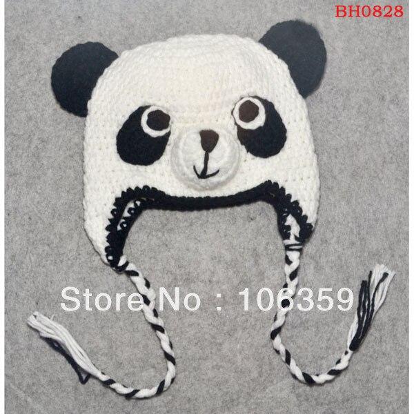 Konfu Panda Kappe handgemachte Babymütze Kinder Winter Strickmütze ...