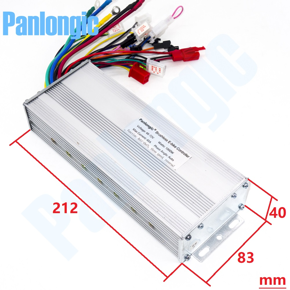 48 72v 1000w Brushless Motor Controller Panlongic Wiring Wide Voltage Domain Electric Bicycle E Bike Scooter Dc Speed