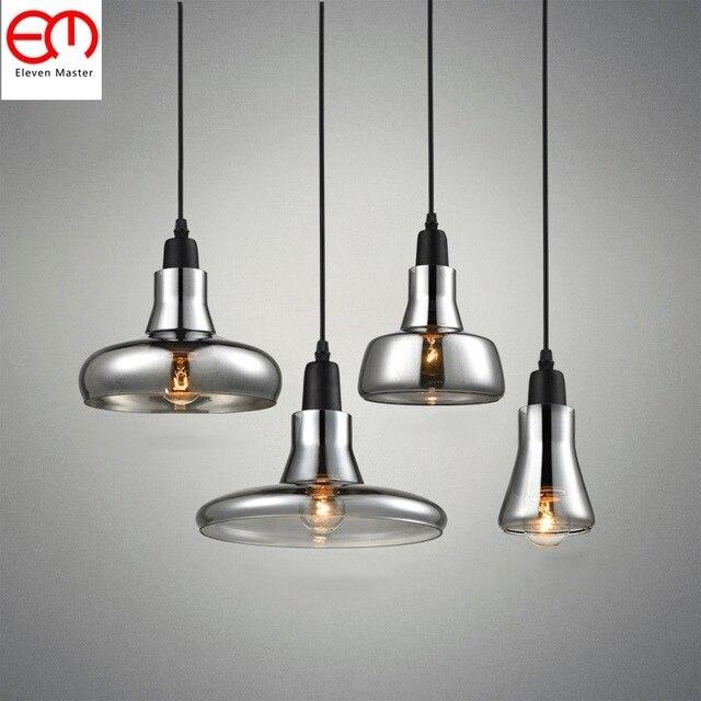 vintage glass pendant light clear color amber color pendant lamps