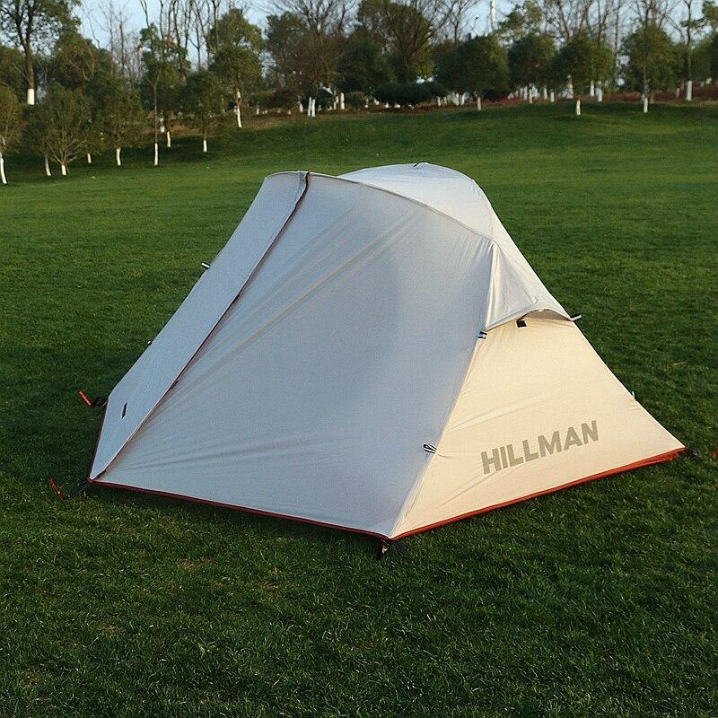 Hillman nuevo 2 personas Camping a prueba de lluvia tienda doble capas senderismo impermeable 4 estaciones ultraligero varilla de aluminio
