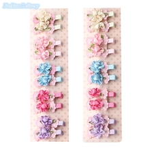 20pcs/lot Kids Cute Bow Tie Lace Floral Hairpins Hair Clips Girls Hair Decorations Fashion Trinkets Barrettes