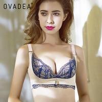 OVADEA Women S Sexy Plus Size Seamless Wireless Bra Embroidery Lace Comfortable Padded Push Up Cotton