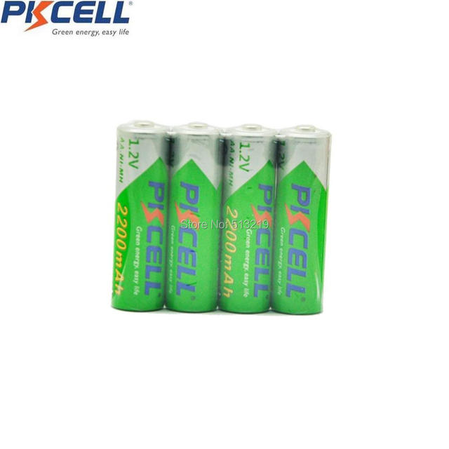 8Pcs PKCELL AA 2200MAH 1.2V Ni-MH Low Self-Discharge Rechargable Battery and 2 Pcs BOX For toys and remote control etc Batteries