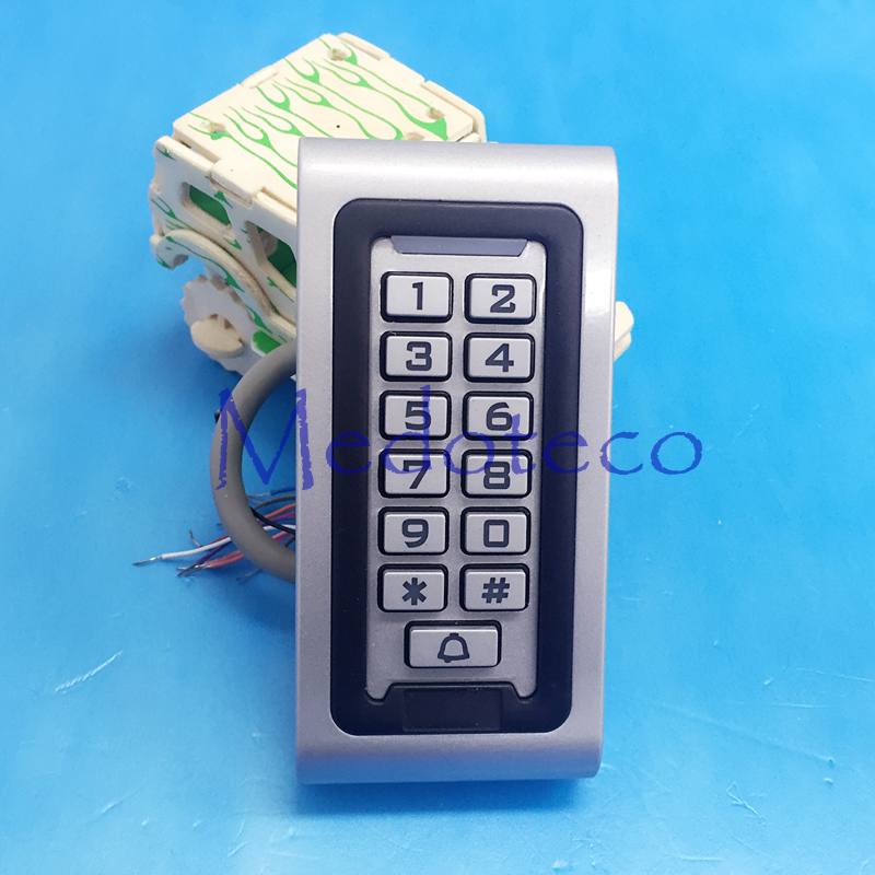 10pcs IP68 Waterproof 125khz RFID/EM Keypad Proximity Door Access Control System Metal Access Control OutDoor silicone key 125khz rfid card waterproof metal case fingerprint access control system f102 with remote control 10pcs key card