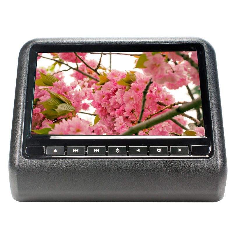 9 inch TFT LED Screen Headrest monitor Car DVD Player & Game DVD USB SD IR Transmitter Portable Headrest Monitor SH9808DVD Black 2 x 9 inch digital display screen headrest dvd player beige car headrest video player support usb sd ir fm transmitter remote