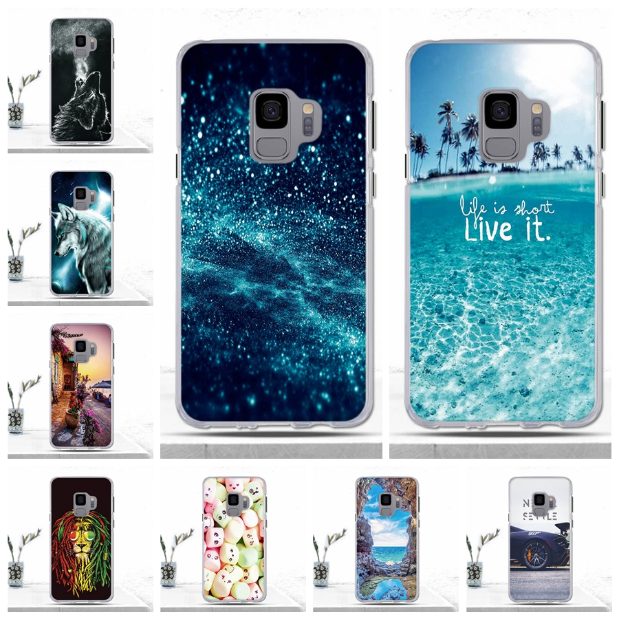 Cartoon Silicon Case for Samsung Galaxy S9 S 9 Case Soft TPU Protetive Phone Cover for Samsung S9 S9 Galaxy S9 Case Cover Coque