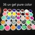 Burano 36 colores/set elegir \ glitter poder \ lentejuelas color puro gel uv nail art consejos cubierta brillante manicura extensión de uñas de gel