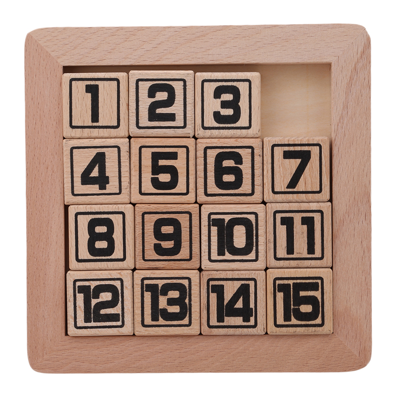 15 Number Puzzle Learning Numbers Matching Game Slide Jigsaw Puzzle Game Toy Huarong Road
