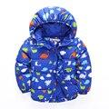 2016 Осень и зима Новая Мода мальчики теплое пальто с длинным рукавом мультфильм куртка дети хлопка мягкой одежды kidsoutwear топы
