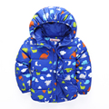 2016 Autumn&winter New Fashion boys warm coat  long sleeve cartoon jacket   children cotton-padded clothes kidsoutwear tops