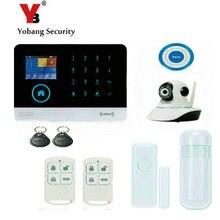YoBang безопасности беспроводной GSM сенсорный экран безопасности офисная охранная сигнализация и беспроводная ip-камера сигнализация Поддержка IOS Android системы