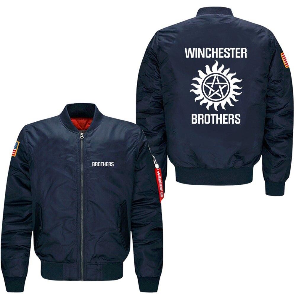 2017  Supernatural Zip spring autumn men's leisure jacket collar code Air Force pilots jacket