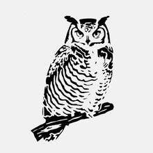 10.1*15.3CM Owl on Tree Branch Vinyl High Quality Plastic Sticker Car Accessories Exterior Window Animal Logo Emblem