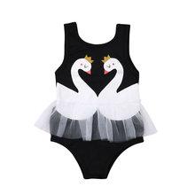 Летние Детские купальники для девочек купальный костюм с принтом