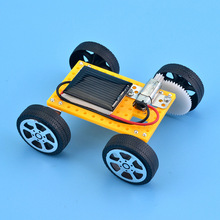 Novelty Mini Solar Power Car Kids Toy DIY Assembled Solar Energy Powered Toy Car STEM Car Kit Children Educational Toy Kids Gift