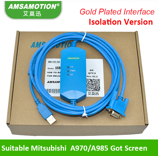 Suitable Mitsubishi A970 985GOT Touch Panel Programming Cable USB-AC30R2-9SS+ Download line security implications of cloud computing