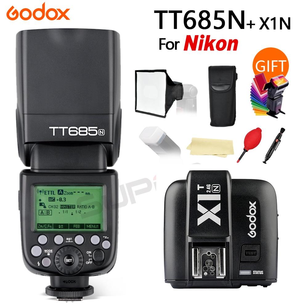 Godox TT685N 2.4G HSS 1/8000 s i-TTL GN60 Senza Fili Speedlite Flash per Nikon D800 D700 d7100 D5200 D5100 D70S + X1T-N TriggerGodox TT685N 2.4G HSS 1/8000 s i-TTL GN60 Senza Fili Speedlite Flash per Nikon D800 D700 d7100 D5200 D5100 D70S + X1T-N Trigger