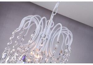 Image 5 - Krajem ameryki loft osobowość retro kryształ żelazny żyrandol jadalnia lampka do sypialni