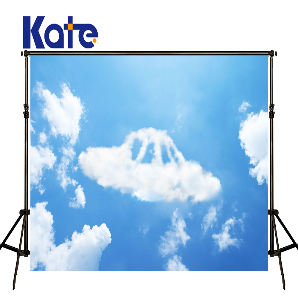 KATE Photography Backdrops Kids Daily Backdrop Cartoon White Clouds Background Newborn Backdrop Baby Photo for Photocall Party allenjoy backdrop spring background green grass light bokeh dots photocall kids baby for photo studio