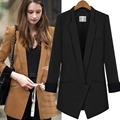 Long Sleeve Winter Autumn Slim Maxi Blazers Women Warm Outwear Jacket Coat Casual Formal Brand OL Long Jaqueta Feminino WDC511