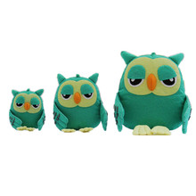 Cute Owl Families Felt DIY Craft Kit Doll Handmade Sewing Cloth Toys For Children Gifts Schoolbag Pendant Package