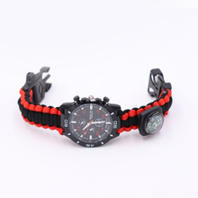 Paracord Survival Bracelets for Men Women Outdoor Bangles Jewelry Wrap Rope Watch