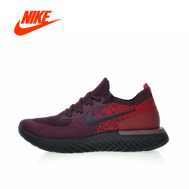 cb1b5ec110de6b Original New Arrival Authentic NIKE Epic React Flyknit Mens Running Shoes  Sneakers Breathable Sport Outdoor AT0054-600