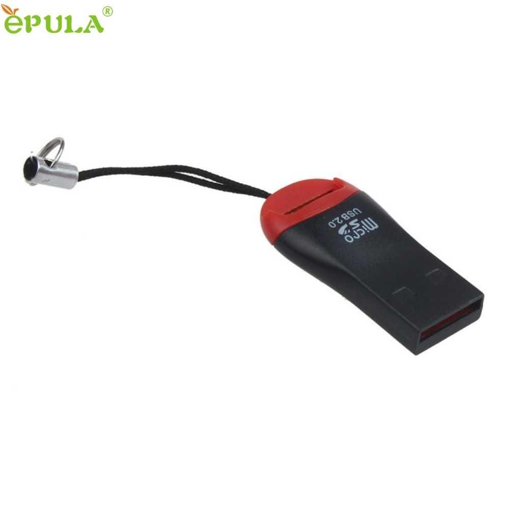Binmer 2 adet USB 2.0 mikro SD SDHC TF Flash bellek kart okuyucu Mini adaptörü Laptop için 60310