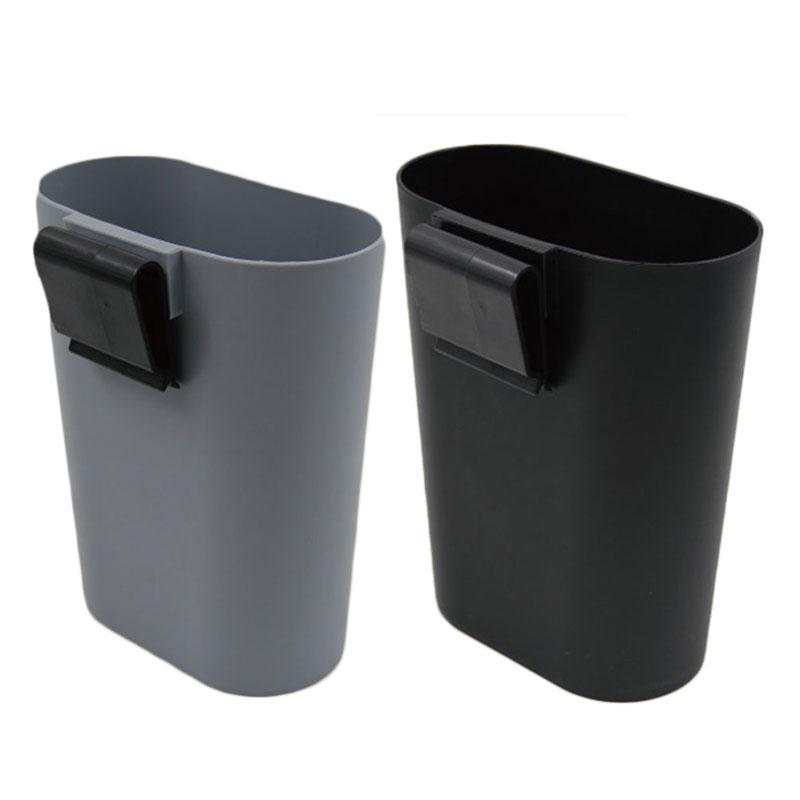 2017 hot black gray mini car trash portable trashes garbage hanging folding storage basket box - Collapsible waste basket ...