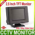 2.5 inch Digital TFT LCD Color Car Monitor,CCTV Camera Monitor With 1 Way Video Input