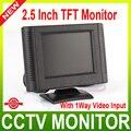 2.5 polegada Digital TFT LCD a Cores de Carro Monitor, Câmera de CCTV Monitor Com 1 Entrada de Vídeo Maneira