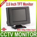 2.5 pulgadas Digital TFT LCD Color Monitor Del Coche, Monitor CCTV Cámara Con 1 Vías de Entrada de Vídeo