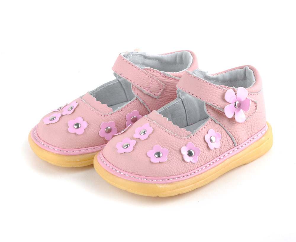 Girls Genuine Leather Kids Shoes Soft Tole Comfortable Flowers Casual Shoes for Toddler Girl Princess Dancing Garden Sandals