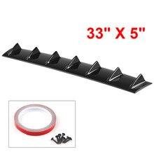 ABS пластик Универсальный черный Задний бампер для губ Диффузор спойлер 7 плавник Акула плавник стиль