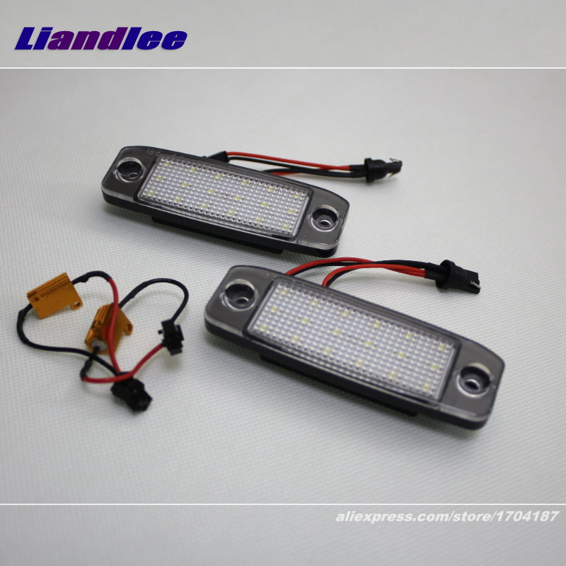 Liandlee For KIA Sorento R / Sorento MX 2010~2015 / LED Car License Plate Light / Number Frame Lamp / High Quality LED Lights direct fit for kia sportage 11 15 led number license plate light lamps 18 smd high quality canbus no error car lights lamp