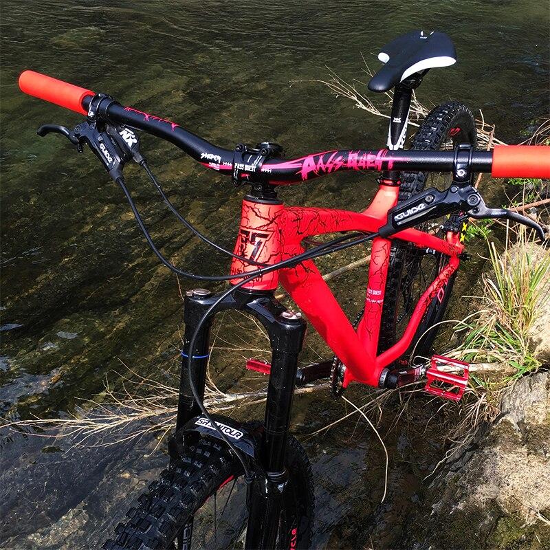 PASS QUEST DH FR downhill Aluminum Alloy Riser Handlebar 31 8X780mm angle 25mm MTB Mountain Bike