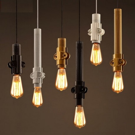 Amercian Loft Style Iron Vintage Pendant Light Fixtures Edison Industrial Lighting For Dining Room Hanging Lamp Home Decorate loft vintage edison glass light ceiling lamp cafe dining bar club aisle t300